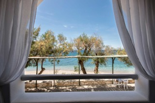 apartment with sea view to kyma balcony view