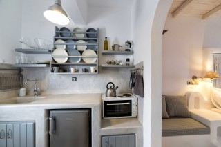 studio with sea view to kyma with big kitchen