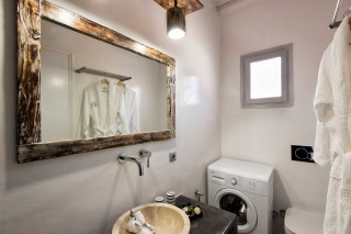 two bedroom apartments sea view to kyma bathroom